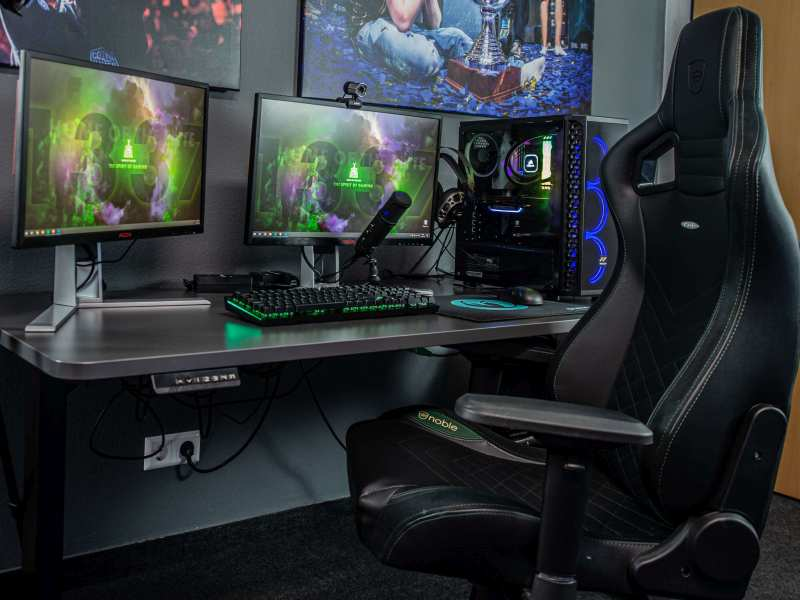 gaming chair and gaming desk